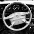 Stock Photo: Cab Porsche 911 (black and white)