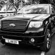 The Ford Expedition is a full-size SUV, (black and white) — Stock Photo