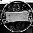 Cab Porsche 911 Targa, (Black and White) — Stock Photo