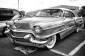 Car Cadillac Series 62 Coupe de Ville, 1950 (black and white) — Stock Photo