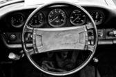 Cab Porsche 911 Targa, (Black and White) — Stockfoto