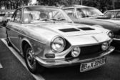 Car Simca 1200 S Coupe (black and white) — Stock Photo