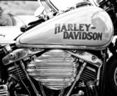 Detail of the motorcycle Harley-Davidson (Black and White) — Stock Photo