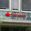 The Santander Group is a Spanish banking group centered on Banco Santander — Stock Photo