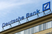 Deutsche Bank AG is a German global banking and financial services company — Stock Photo
