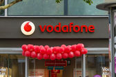 Vodafone is a British multinational telecommunications company — 图库照片