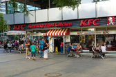 Restaurant KFC (Kentucky Fried Chicken) on Kurfuerstendamm — Stock Photo