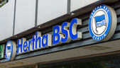 The emblem of Hertha BSC is a German association football club based in Berlin — Stock Photo