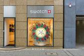 Kurfuerstendamm swatch mağazası. — Stok fotoğraf