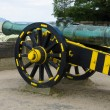 Antique bronze cannon — Stock Photo