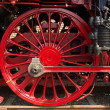Steam locomotive wheels — Stock Photo #30058369