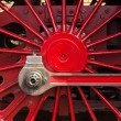 Steam locomotive wheels — 图库照片