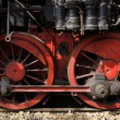 Steam locomotive wheels — Stock Photo