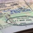 Kenya visa in passport. — Stock Photo