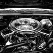 Motor full-size car Chevrolet Impala SS Convertible close-up — Stock Photo