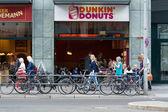 Cafe Dunkin Donuts on Friedrichstrasse — Stock Photo