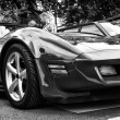 Sport car Chevrolet Corvette C3 Stingray coupe (black and white), — Stock Photo