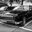 Постер, плакат: Personal luxury car Buick Riviera GS second generation black and white