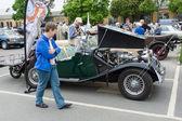 Mg midget in td roadster — Foto Stock