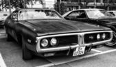 A mid-size automobile Dodge Charger (B-body), third generation (black and white) — Stock Photo