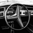 Постер, плакат: Cab Buick Riviera GS Stage I black and white