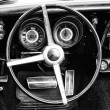 Cab Pontiac Firebird (black and white) — Stock Photo