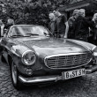 Sports car Volvo P1800E (black and white) — Stock Photo