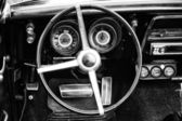 Cab Pontiac Firebird (black and white) — Foto de Stock