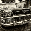 Постер, плакат: Full size car Buick Century Riviera Series 60 Model 63 4 door Hardtop sepia