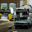 The Restoration Workshop Mercedes-Benz — 图库照片