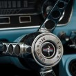 Постер, плакат: Detail of the steering wheel sports car Ford Mustang Convertible