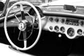 The driver's seat sports car Chevrolet Corvette 1954 (C1) — Stock Photo