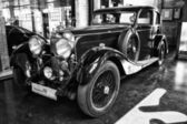 British luxury car Lagonda M45 (black and white) — Stock Photo