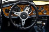 Cab British six-cylinder sports car Triumph TR6 — Stock Photo