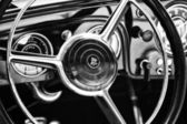 Steering wheel and dashboard German car Horch — Stock Photo