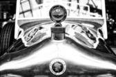 The emblem on the hood of a Belgian car Minerva Type AB Torpedo — Stock Photo
