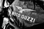 Fuel tank Italian motorcycle Moto Guzzi — Stock Photo