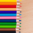 Colored pencils. Background. — Stock Photo