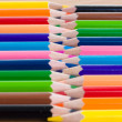 Colored pencils. Background. Focus in the center. — Stock Photo