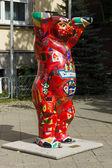 在街上-柏林的一个传统符号绘的熊 — 图库照片