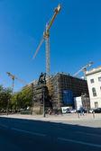 Restaurering av Stadsbiblioteket i berlin, unter den linden — Stockfoto
