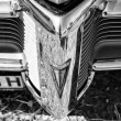The emblem on the bumper of the car Pontiac Firebird (1968), black and white — Stock Photo