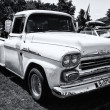 Stock Photo: Classic pickup Chevrolet Apache 31 (black and white)