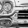 Headlights classic pickup truck Chevrolet Apache 31 (black and white) — Stock Photo