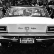 American full-size car Chrysler New Yorker Hardtop (1966), black and white, rear view — ストック写真