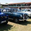Various vintage cars at the exhibition — Stock Photo