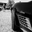 Stock Photo: Detail of sports car Chevrolet Corvette Stingray Coupe, (black and white)