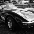 A sports car Chevrolet Corvette Stingray Coupe, (black and white) — Stock Photo
