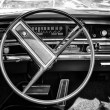 Постер, плакат: Cab full size car Buick Le Sabre Custom 1967 Cabrio black and white