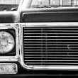 Stock Photo: Car Headlamp Chevrolet CK Pickup Truck (1974), black and white